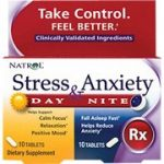 Natrol Stress and Anxiety – Day and Night Tablets, 60-Count