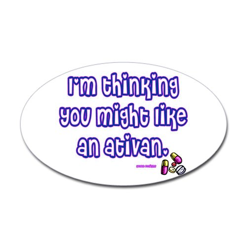 Ativan Oval Sticker Sticker Oval by CafePress - White