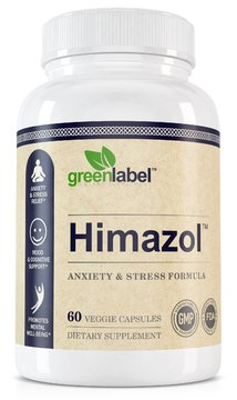 Himazol Anxiety Relief & Stress Support, Promotes Calm Sleep, Relaxation & Mood Support, For Stress Anxiety And Depression. All Natural Anti Anxiety Pills And Stress Relief, Easy To Swallow Capsules