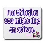CafePress – Ativan Mousepad – Non-slip Rubber Mousepad, Gaming Mouse Pad
