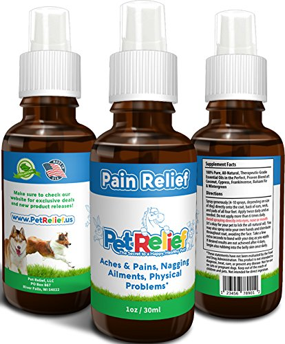 Pain Relief For Dogs, Natural Pain Killers For Dogs, Lifetime Warranty! 30ml Pain Medicine For Dogs, Best Dog Pain Reliever, No Side Effects! Wound Care, Injury, Surgery. Made In USA By Pet Relief