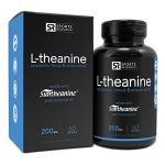 Suntheanine® L-Theanine 200mg (Double-Strength) in Cold-Pressed Organic Coconut Oil; Non-GMO & Gluten Free – 60 Liquid Softgel, Made in USA
