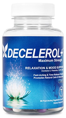 Decelerol+ Natural Anxiety Relief Supplement 60 ct