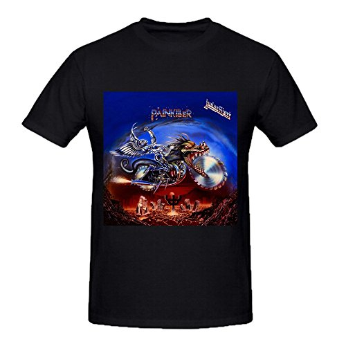 Judas Priest Painkiller Comfot Round Neck T Shirt For Men Black
