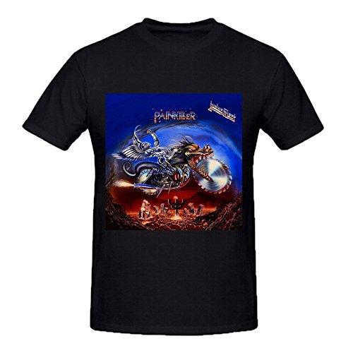 Judas Priest Painkiller Comfot Round Neck T Shirt For Men Black