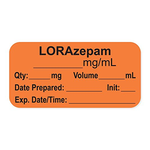 PDC Healthcare LAN-2-26 Anesthesia Label with Exp. Date, Time, and Initial, Paper, Permanent,