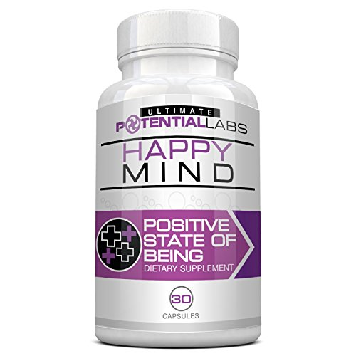 Happy Mind - Natural Herbal Anti Anxiety Supplement for Daily Stress Relief and Elimination of Panic Attacks * Elevate and Enhance Mood without Harmful Side Effects (30 Capsules)