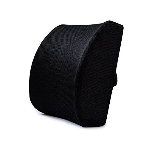 Han Shi® Back Pain Killer - Memory Foam 3d Lumbar Support Cushion Back Pillows for Office Chair
