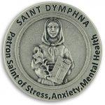 St St. Saint Dymphna Pocket Token Coin 1.2″ with Prayer Catholic Patron Stress Anxiety Mental Health