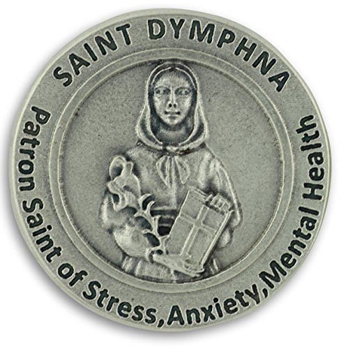 St St. Saint Dymphna Pocket Token Coin 1.2