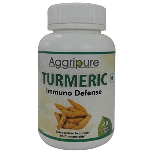 Aggripure Turmeric Powerful Blend Of Root Power And Extract Provides 1200 MG Turmeric Powder In Each Capsule - Best For Skin, Eyes, Joints, Pain, Inflammation & More!