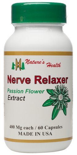 Passion Flower Extract with Valerian Root Extract, Natural Sedative Support, Relax and Unwind, Develop Good Sleep Habits, 400 Mg, 60 Capsules, Nature's Health