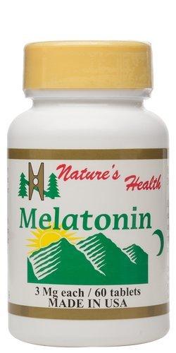Melatonin, Natural Sleep Aid, Non-Habit Forming Sleep Aid, Develop Good Sleep Habits, Wake Up Rejuvenated, 3 Mg, 60 Tablets, Nature's Health