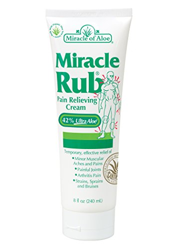 Miracle Rub Pain Relieving Cream 8 Oz Miracle Pain Relieving Cream Penetrates Deep and Provides Soothing Pain Relief Quick! Fast Acting Ingredients Provide Relief of Minor Muscular Aches and Pains, Painful Joints, Arthritis Pain, Strains, Sprains and Bruises