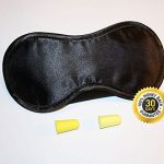 Sleeping Mask with Ear Plugs Super Sale – Sleep Better the Very First Night – 30 Day Happiness Guarantee – Blocks 100% of the Light From Your Eyes – Great for Insomnia and Sleep Disorder Sufferers – Natural Sleep Aid – Lightweight, Soft and Comfortable – Get a Deep Sleep Any Where, Any Time – Adjustable Wide Velcro Strap with Earplug Holders – Fits Men, Women and Children – Perfect for Sleep Deprived Parents