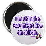 CafePress – Ativan Magnet – 2.25″ Round Magnet, Refrigerator Magnet, Button Magnet Style