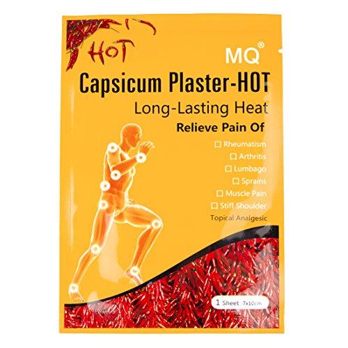 MQ Capsicum Plaster Pain Relieving Hot Patch,Joint pain killer 10 Patch, 7*10CM/sheet