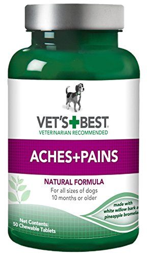 Vet's Best Aspirin Free Aches & Pains Dog Supplements, 50 Chewable Tablets