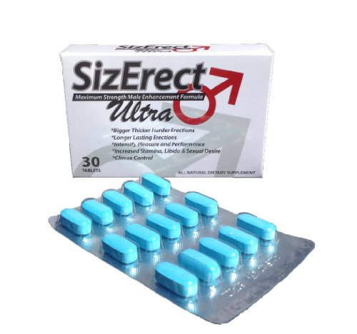 SizErect Ultra - Maximum Strength Male Sexual Enhancement Pills - New & Improved Fast Acting, Long Lasting Formula - Limited Supply