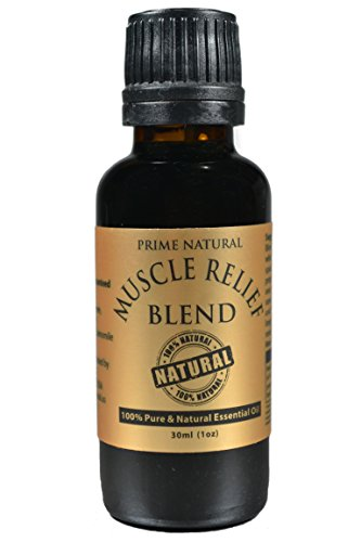 Muscle Relief Essential Oil Blend 30ml / 1oz - 100% Natural Pure Undiluted Therapeutic Grade for Aromatherapy Massage Scents Diffuser - Relieves Muscle Pain, Spasms, Stiffness, Backache, Sore Muscle