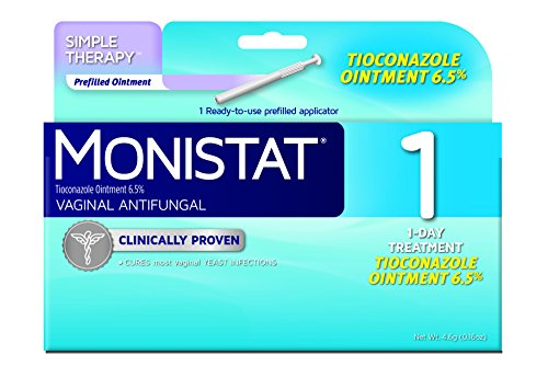 Monistat Vaginal Antifungal Medication 1- day, 0.16-Ounce Prefilled Applicator