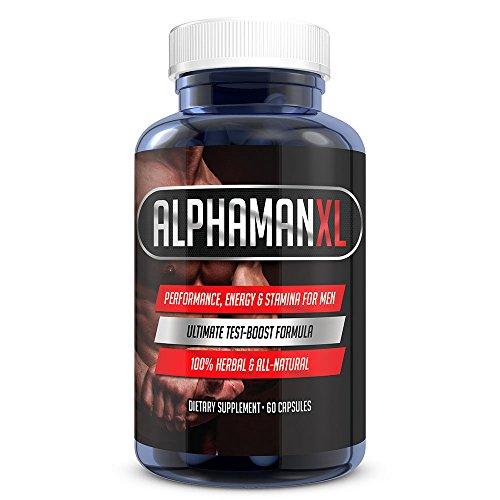 AlphaMAN XL Male Sexual Enhancement Pills | 2+ Inches in 60 days - Enlargement Booster Increases Energy, Mood & Stamina | Best Performance Supplement for Men - 1 Month Supply