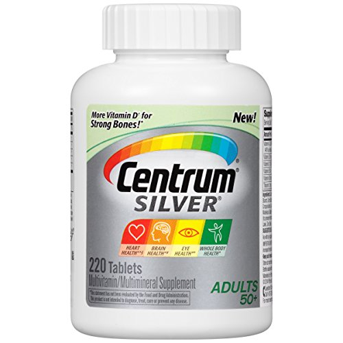 Centrum Silver Adult Multivitamin / Multimineral Supplement Tablet, Vitamin D3 (220 Count) (Package May Vary)