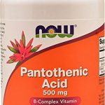 NOW Foods Pantothenic Acid 500mg, 250 Capsules