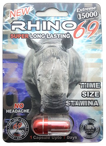 Rhino 69 Extreme 15000 - Sexual Male Performance Enhancement Pill (15K) - 5 Pack