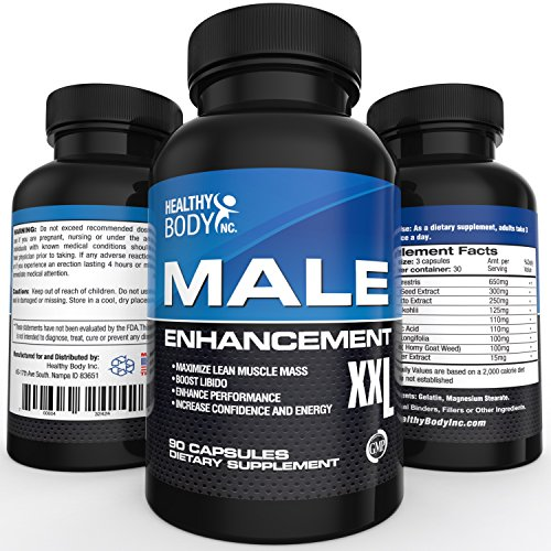 Top Testosterone Booster and Male Enhancement pills together in 1 product 1760 mg per serving (New and Improved 90ct.) All Natural to help Increase Energy, Stamina, and Size.