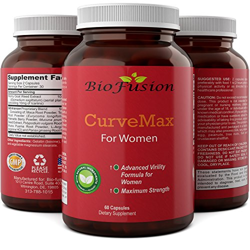 Natural Butt Enhancer & Big Booty Pills - Potent Enlargement With Ginseng + L Arginine - Increase Libido - Burn Belly Fat With Tongkat Ali - Butt Enhancement Pills By Biofusion