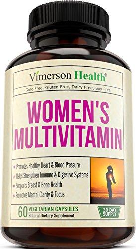 Women's Daily Multivitamin Supplement - Biotin, Vitamins A B C D E, Calcium, Zinc, Lutein, Magnesium, Manganese, Folic Acid & More. Natural, Non-Gmo, Gluten Free & Dairy Free Multivitamins for Women