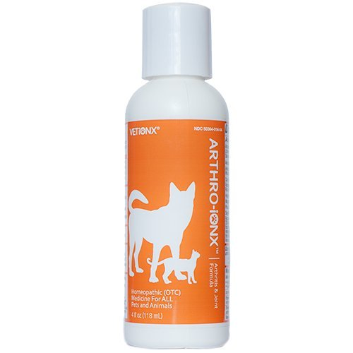 VETiONX Arthro-Ionx - Safe, Natural Joint and Mobility Pain Medication for Pets of All Ages,4 fl OZ