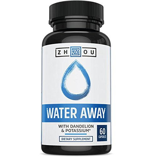 WATER AWAY Herbal Formula for Healthy Fluid Balance - Premium Herbal Blend with Dandelion, Potassium, Green Tea & More - 60 capsules - Manufactured in the USA