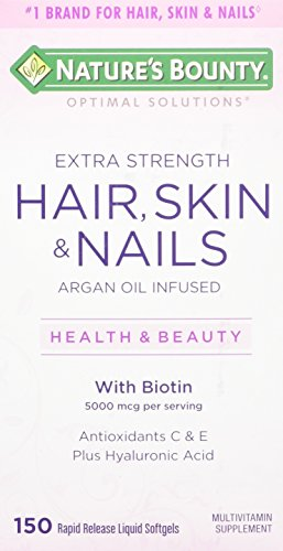 Nature's Bounty Optimal Solutions Hair, Skin & Nails Extra Strength, 150 Softgels