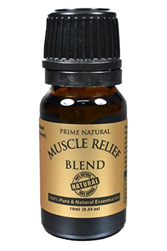 Muscle Relief Essential Oil Blend 10ml - 100% Natural Pure Undiluted Therapeutic Grade for Aromatherapy Massage Scents & Diffuser - Relieves Muscle Pain, Spasms, Stiffness, Backache, Sore Muscle