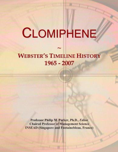 Clomiphene: Webster's Timeline History, 1965 - 2007