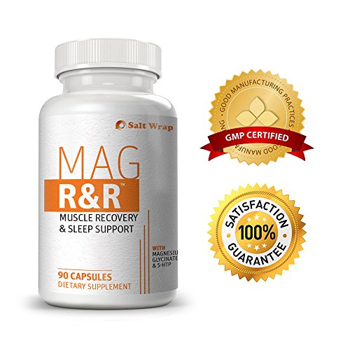Mag R&R Natural Muscle Relaxant & Sleep Aid - EXTRA STRENGTH. Support for leg cramps, muscle tension, stress and sore muscles. From SaltWrap Biolabs