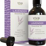 Viva Naturals French Lavender Essential Oil, 4 fl oz – 100% Pure & Therapeutic Grade for Relaxation, Sleep & Happy Mood