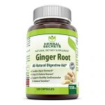 Herbal Secrets Ginger Root Supplement – 550 mg Capsules – Easy to Swallow Capsule – Helps to Relieve From Symptoms of Nausea and Upset Stomach * An All Natural Digestive Aid * 120 Capsules Per Bottle