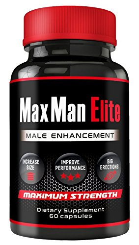 MaxMan Elite - Male Enhancement Pills - Erection Pills - Enlargement Pills for Men - Increase Size GUARANTEED! - Testosterone Booster for Men -- 100% Satisfaction! Boost Sex-Drive