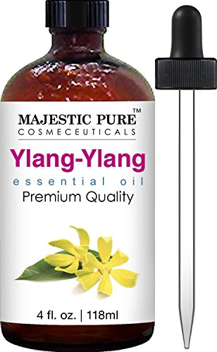 Majestic Pure Ylang Ylang (Cananga Odorata) Therapeutic Grade Essential Oil, 4 fl. oz.