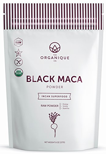 Certified Organic Black Maca Powder - Vitality and Focus Booster for Men & Women - Natural Fertility Blend for Males - Nutrient Rich Superfood, Non-GMO, Vegan, Gluten Free - The Organique Co. - 8 oz