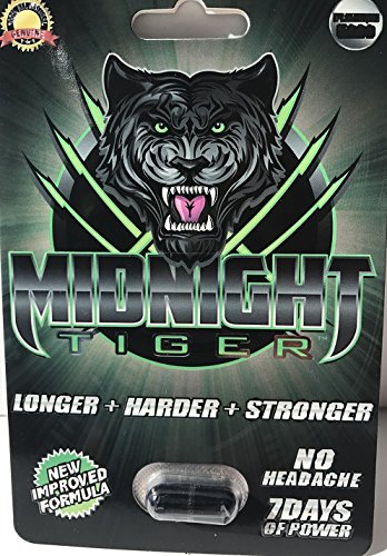 Midnight Tiger, Unleash your Beast, All Natural, No Headache, Blows away Rhino,