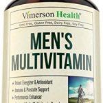 Men's Daily Multivitamin Supplement – Vitamins A C D E B1 B2 B3 B5 B6 B12, Saw Palmetto, Zinc, Selenium, Spirulina, Calcium, Lutein, Magnesium, Green Tea, Biotin. Natural Non-Gmo Multivitamins for Men