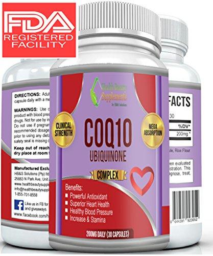 ** DR RATED PURE COQ10 ** Top Rated 5 Star Formula - Skin, Heart And Fertility - Beats Any Liquid And Pills - la salud del corazon