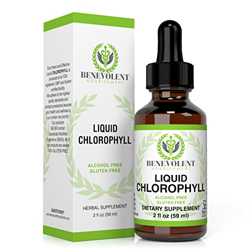 Liquid Chlorophyll Dietary Supplement. Natural Herbal Drops Are Potent and Effective, Easy to Take, Absorb Fast to Best Help Your Immune System and Boost Energy. Alcohol Free. Gluten Free. 2oz Bottle.