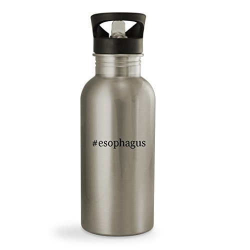 #esophagus - 20oz Hashtag Sturdy Stainless Steel Water Bottle, Silver