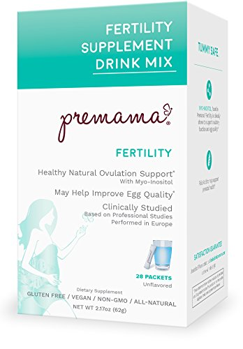 Premama Fertility Reproductive Powdered Drink Supplement, 28 Count