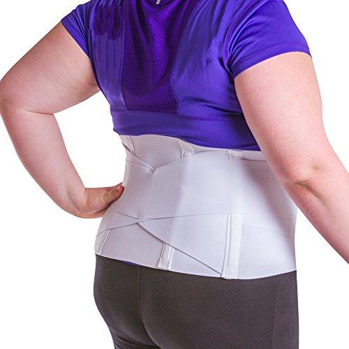 BraceAbility Women's Back Brace for Female Lower Back Pain Treatment & Lumbar Support (XL)